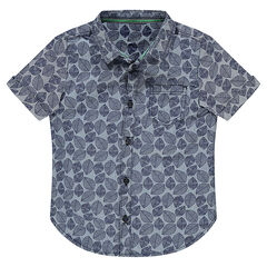 Camisa de manga corta con estampado vegetal