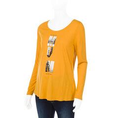 Camiseta manga larga para el embarazo con estampado