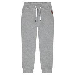 Pantalón de jogging de felpa lisa