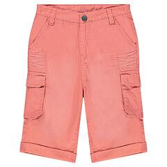 Júnior - Bermudas de sarga con efecto arrugado con tela con bolsillos