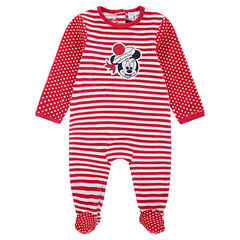 Pijama de terciopelo de rayas con lunares y rayas de Minnie ©Disney