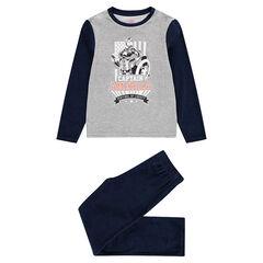 Júnior - Pijama de terciopelo punto con estampado de Capitán América ©Marvel