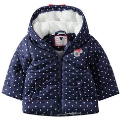 Anorak con lunares de borreguillo con orejas de relieve Minnie Disney