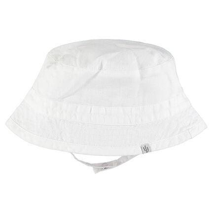 Bob blanco liso de algodón