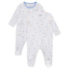 Juego de 2 pijamas de punto con estampado de estrellas/koalas all over