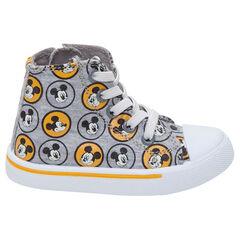 Zapatillas deportivas altas de tela ©Disney con motivo de Mickey all-over