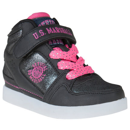Zapatillas de deporte de caña alta US Marshall de color rosa