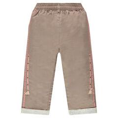 Pantalón de algodón de fantasía con bordados y borlas