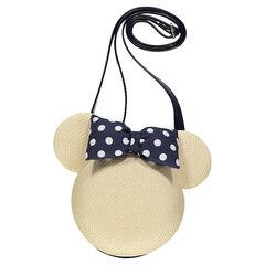 Bolso de bandolera de paja con forma de Minnie ©Disney