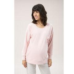Sudadera de embarazo en maille y bordados , Prémaman