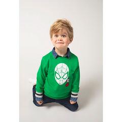 Sudadera de felpa lisa verde con estampado ©Marvel Spiderman