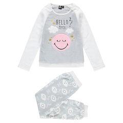 Júnior - Pijama de borreguillo con dibujo ©Smiley y detalles bordados