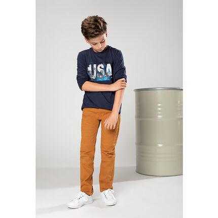 Júnior - Camiseta de manga larga de punto con dibujo USA y lentejuelas mágicas