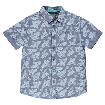 Junior - Chemise manches courtes imprimée all-over