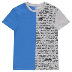 Júnior - Camiseta de manga corta de bicolor de punto.