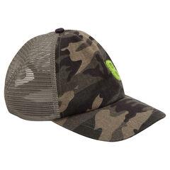Gorra de sarga con estampado militar y mesh en la parte trasera