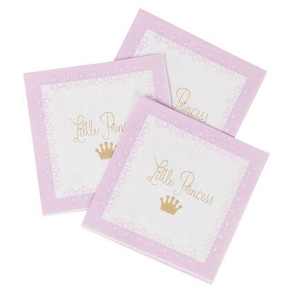 Juego de 20 servilletas de cumpleaños de papel con dibujo de princesa