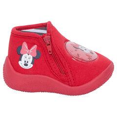 Zapatillas abotinadas con cremallera y parche de Disney Minnie