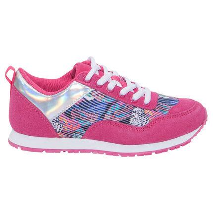 Zapatillas de deporte de color fucsia con estampado de fantasía