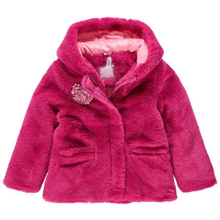 Abrigo de borreguillo con capucha y forro de borreguillo