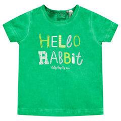 "Camiseta de manga corta con estampado de ""Hello Rabbit"""