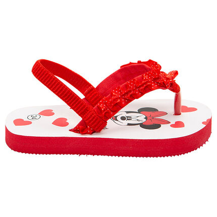 Chanclas con Minnie ©Disney estampada y corazones
