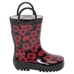 Botas de agua con flores