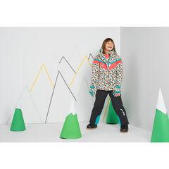 Júnior - Cazadora de esquí con dibujo gráfico y capucha desmontable