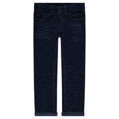 Pantalón de terciopelo efecto arrugado