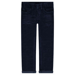 Júnior - Pantalón de terciopelo efecto arrugado