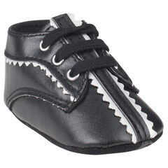 Botas bajas con cordones de color negro