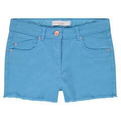Pantalón corto de colores con acabado de flecos