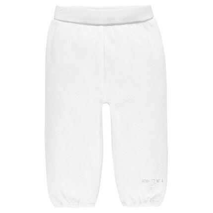 Pantalón de terciopelo cintura elástica