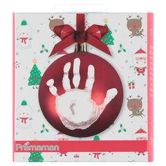 Kit de bola de Navidad con material para huella de la mano