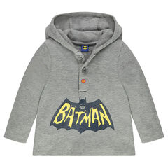 Camiseta de manga larga y capucha con estampados de BATMAN