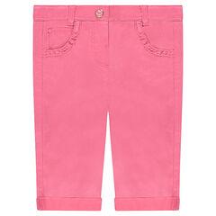 Pantalón slim de raso de algodón