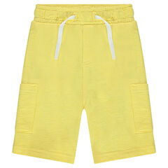 Bermudas de felpa slub con bolsillos.