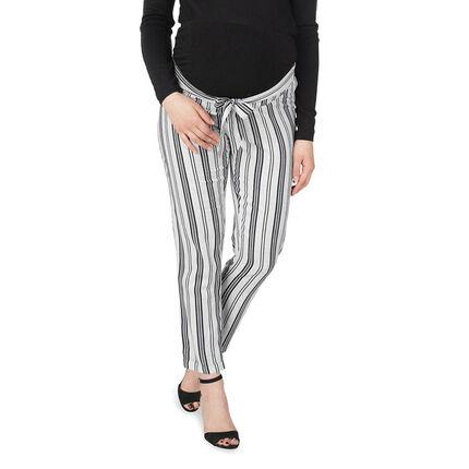 Pantalón de premamá 7/8 con rayas verticales