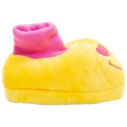 Zapatillas de peluche con bordado de Smiley