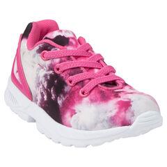 Zapatillas de deporte de caña baja con cordones con sujeción mediante elástico con estampado con fantasía