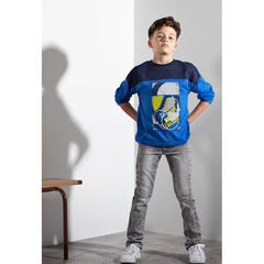 Júnior - Camiseta de manga larga con texto estampado en la espalda