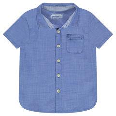 Camisa de manga corta con bolsillo tipo parche