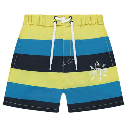 Pantalón corto de baño con bandas que contrastan