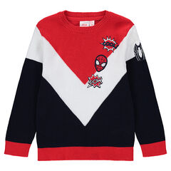 Jersey de punto tricolor con parches bordados ©Marvel Spiderman
