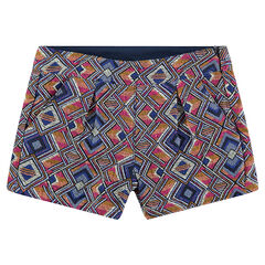 Pantalón corto con dibujo étnico de jacquard