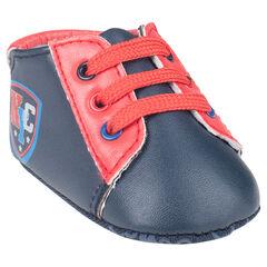 Zapatillas de deporte de cañas bajas con cordones tacones con impresos