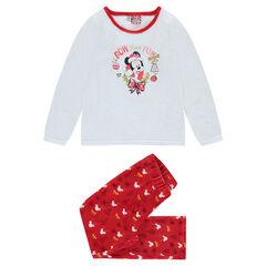Pijama de terciopelo con estampado de Minnie y bordados dorados