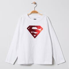 Camiseta de manga larga motivo  Superman de lentejuelas mágicos