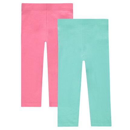 Junior - Lote de 2 pantalones corsario de un solo color