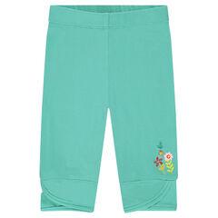 Leggings cortos con flores estampadas